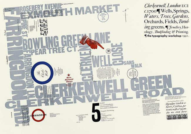Алан Китчинг, типографическая карта Broadside Number 5.